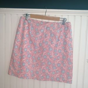 Vineyard Vines Blue and Pink Seahorse Skirt